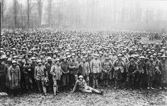 Masses of British prisoners captured during the Spring Offensive, March-April 1918