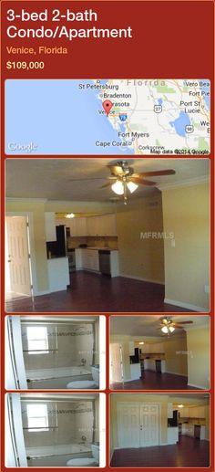 3-bed 2-bath Condo/Apartment in Venice, Florida ►$109,000 #PropertyForSaleFlorida http://florida-magic.com/properties/34488-condo-apartment-for-sale-in-venice-florida-with-3-bedroom-2-bathroom