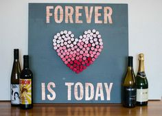 Wine Cork Heart. This is the perfect wedding idea or gift idea for wine lovers.