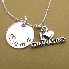 I love gymnastics personalized handstamped by WinterMuteCreations, $28.00