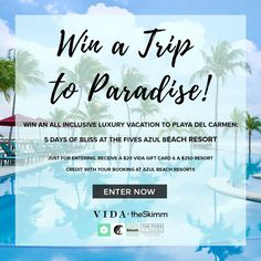 Who want to go on this fabulous Trip to Mexico? Give away by VIDA!