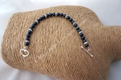 Navy Pearl Bracelet - Bridesmaids Jewellery - Bridal Accessories - £24.00