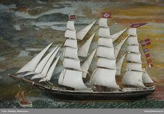 DigitaltMuseum - Skipsmodell Sailing Ships, Boat, Model, Dinghy, Boating, Boats, Sailboat, Tall Ships
