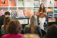 "One of Surya's newest designers, Kate Spain during her ""Designer Spotlight"" at High Point Market Spring 2013 #hpmkt"