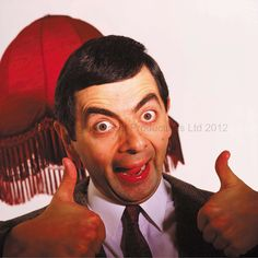 Thumbs up for Mr Bean!