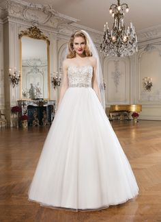 Justin Alexander wedding dresses style 8724 Tulle ball gown features intricately beaded bodice with a sweetheart neckline. Style has a chapel length train and regal satin buttons to cover the back zipper. Making A Wedding Dress, Wedding Dress Sizes, New Wedding Dresses, 2017 Wedding, Summer Wedding, Tulle Ball Gown, Ball Gowns, Justin Alexander Bridal, Wedding Gown Gallery