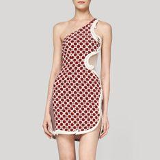Pomegranate Stretch Large Circle Rodney Dress