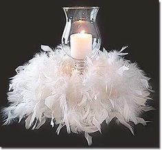 Feather and Floral Centerpieces - Atlanta and Destination - ellyB Events Wedding & Party Planners Ostrich Feather Centerpieces, Non Floral Centerpieces, Candle Wedding Centerpieces, Wedding Decorations, Feather Boas, Christmas Centerpieces, Masquerade Party Centerpieces, Feather Decorations, Hurricane Centerpiece