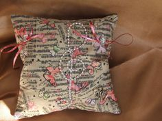 Wedding cushion Music and Butterflies by jemm6crea on Etsy