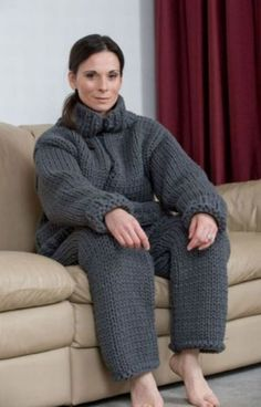 knitted jump suit .... cause normal jump suit just aren't ugly enough!