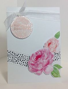 Card created using Heritage Rose collection, designed by Julie Hickey Heritage Rose, Craftwork Cards, Altenew, Pretty Cards, Vintage Roses, Cardmaking, Albums, Birthday Cards, Card Ideas