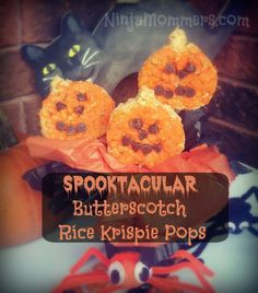 Rice Krispies Spooktacular Butterscotch Pops Recipe! Fun for the whole family!