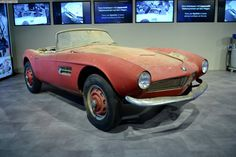 The 1957 BMW 507 is showing its age and BMW plans to restore the beautiful and historical roadster.The vehicle rolled off the assembly line in 1957 with the chassis number 70079 and Elvis Presley was the initial owner after paying $3,750