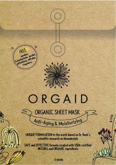 Anti-Aging/Moisturizing Organic Sheet Mask Pack (6 sheets)