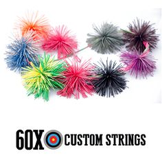 60X Cat Whisker Bow String Silencers You will receive 24″ of cat whisker material (enough to make at least2 full silencers). Color choices are black, blue, brown, flo green, green, orange, pink, purple, red, white and yellow.