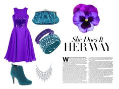 """""""Purple and Teal"""" by lucysefco on Polyvore featuring Julia Cocco', Beacon, Bling Jewelry and Swarovski"""