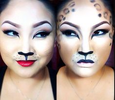How to do makeup for a cheetah or cat