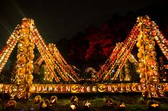 "New Jack-o'-lantern creations like a ""Pumpkin Zee Bridge"" and a planetarium make this year's Blaze Halloween display the best yet."