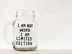 Funny Mug // Funny Mason Jar Mug // I am not by AvonnieStudio, $23.79