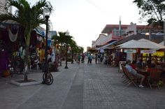 Charming, colorful and vibrant Downtown San Miguel de Cozumel.
