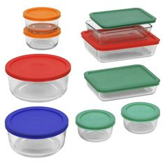You'll find as many uses as pluses with this Pyrex& set. The dishes are made of durable Pyrex& glass. Each dish comes with a secure-fitting lid to keep food fresher longer. Choose the size to meet your food storage needs. Glass Food Storage, Food Storage Containers, Glass Containers, Plastic Storage, Kitchen Pantry Storage, Kitchen Items, Kitchen Stuff, Kitchen Tools, Dorm Kitchen