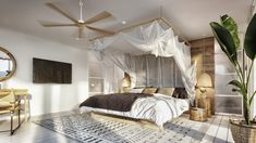 Luxury villa in Thailand, based on an ancient architectural principles. An airy interior with gorgeous architectural features, natural materials & nature views. Villa Design, Staircase Design, Dream Bedroom, Airy Bedroom, Decoration, Interior Design, Architecture, House Styles, Furniture