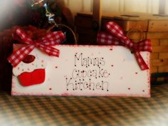CUPCAKE Personalized Kitchen Sign CUPCAKES DECOR Country Wall Sign. $6.00, via Etsy.