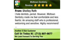 I hate dentists..period. However, Midtown Dentistry made me feel comfortable and less...