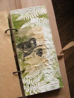 """Блокнот """"Fern and moss"""". Heart Journal, Small Journal, Nature Journal, Junk Journal, Mixed Media Journal, Mixed Media Art, Altered Books, Altered Art, Self Love Books"""
