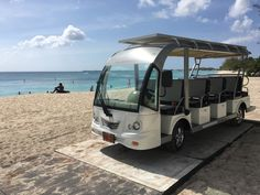 Let us take you to the beach! Our solar utility vehicle will provide a lift to Seven Mile Beach daily from am - pm. Solar, Sunshine, Vehicles, Beach, The Beach, Nikko, Car, Beaches, Vehicle