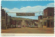 Cripple Creek CO Postcard - Colorado