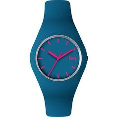 Montre ICE WATCH Mixte, Boîtier Rond Plastique Bleu Turquoise, Bracelet Silicone Bleu Turquoise