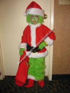 Homemade Grinch Who Stole Christmas Costume: My 4 year old decided he wanted a Grinch Who Stole Christmas Costume 6 months ago. With some help from grandma we created the coolest Grinch costume for