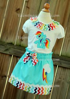Super Cute My Little Pony Rainbow Dash shirt and skirt set $59