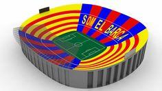 El Barça prepara un espectacular mosaico de 100.000 cartulinas para la final contra el Atleti