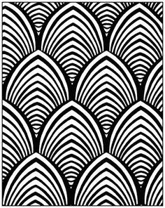 Colorear para adultos art deco 23 | Desde la galería : Art Deco