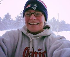 "Carrie: ""A Buckeye freezing in Berwick, Maine ready to ""do my job"" at the 2015 Columbus Marathon!!! #CMnation"" Berwick, Maine"
