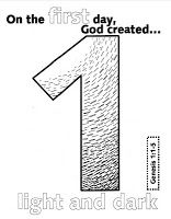 coloring pages and ideas for the 7 days of creation