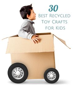Your little speedster will love these fast and fun cars, planes and trains made from recycled materials! These 30 DIY recycled toy crafts are a great way to get moving and creating.