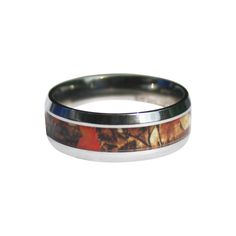 Our Wild Amber Blaze Camo Ring will not disappoint! This ring and Camo Pattern was custom designed by a professional camo designer, and is made with flawless Stainless Steel. What an incredible deal a Deer Antler Wedding Band, Camo Wedding Rings, Deer Antler Ring, Camo Rings, Wedding Bands, Couples Ring Tattoos, Engagement Ring For Her, Stylish Rings, Rings For Her