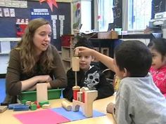 A pre-k teacher leads her students in a block-building activity. Play-by-play narration describes the teacher's thought process throughout.