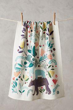 Fabled Land Tea Towel from Anthropologie - € Motifs Textiles, Textile Patterns, Print Patterns, Stitch Patterns, Dish Towels, Tea Towels, Kitchen Towels, Kitchen Decor, Kitchen Linens