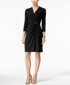 Charter Club Faux-Wrap Dress, Only at Macy's