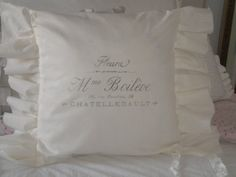 ruffled pillow cover