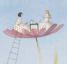 Tea in the Garden by artsysarah on Etsy,