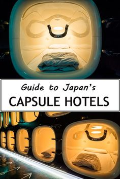 Stay at a Capsule Hotel in Japan A Guide to Capsule Hotels in Japan, including Tokyo, Kyoto and Osaka. A truly unique Japan experience. If you travel to Japan sleeping in a capsule hotel should be on your bucket list! Go To Japan, Visit Japan, Japan Trip, Tokyo Trip, Japan Japan, Tokyo 2020, Okinawa Japan, Kyoto, Japan Travel Guide