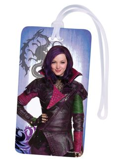 Disney Descendants Backpack ID Tag with Mal