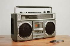 old radios modified to become Bluetooth speakers that play music from your mobile phone.