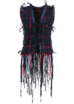 Nordstrom Exclusive Weave Gilet, $490: Kate Moss for Topshop | Boca Raton Magazine