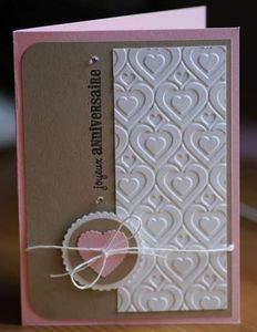LOVE the embossing folder that was used!